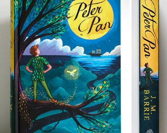 Peter Pan Fairytale - Signed Book With Illustrated Cover By Emmeline Pidgen