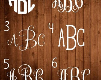 Name Decal - Monogram Decal - Vinyl Monogram Decal