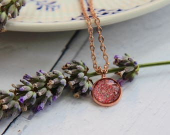Rose Gold Necklace - Pink Necklace - Rose Gold Jewellery - Rose Gold Jewellery Set