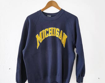 Vintage University of Michigan Spell Out Sweatshirt