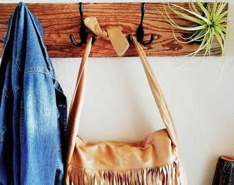 Vintage Tan Bohemian Fringe Handbag