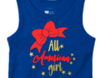 4th of July Shirt, All American Girl