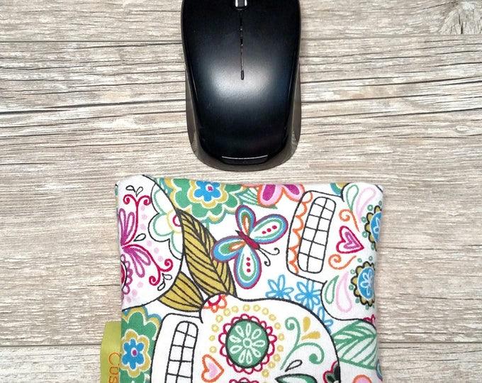 Pink Skulls Computer Wrist rest, Natural organic comfort, stand up desk