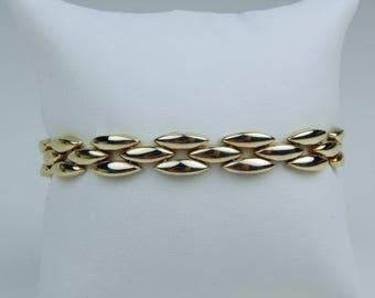 Retro 14k gold link bracelet #10657