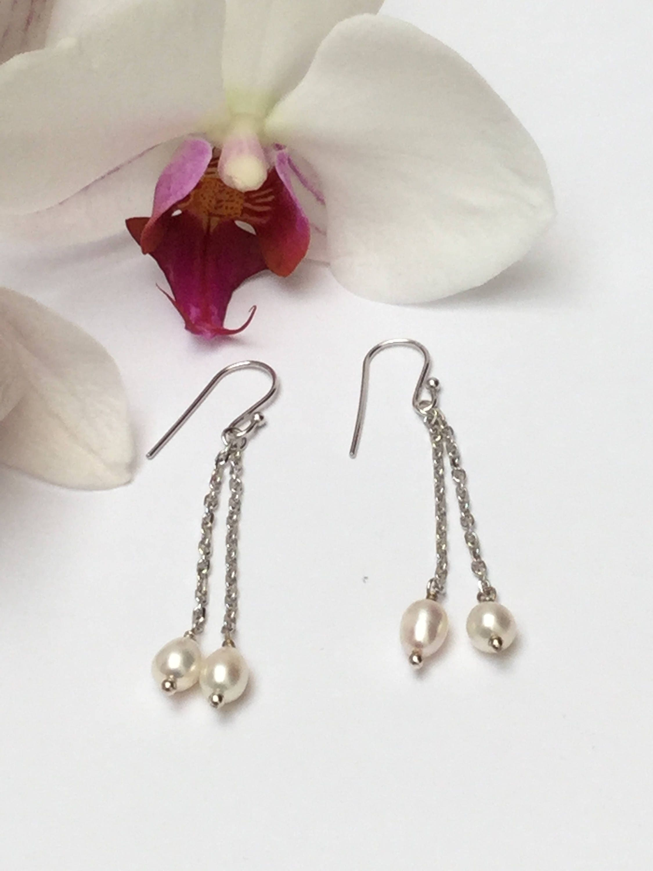gifts bridesmaid pearl file stud products sets water pearls oct fresh ivory earrings pm real
