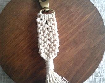 Macrame key chain