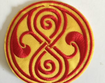 Gallifrey Knot Doctor Who Inspired Patch Iron On Sew On