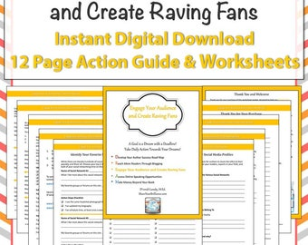 Worksheet Pages - Engage Your Audience and Create Raving Fans - Digital Download - Training and Worksheets