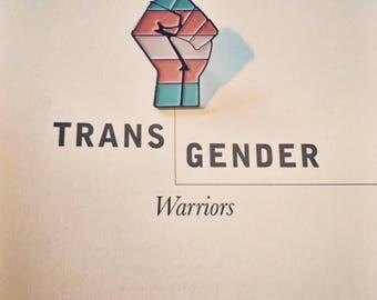 Enamel Pin Transgender Pride Pin Transgender Badge LGBTQ Agender Genderqueer Trans Pride Non-Binary Queer Trans Pin