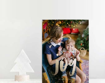 Family Photo Christmas Card, Elegant Script Christmas Card, Printable Christmas Card, Christmas Card With Photo, Custom Christmas Card