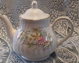 Vintage Teapot  By Arthur Wood - England Pastel pink/yellow Floral pattern No 6103 pastel floral