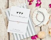Bridesmaid proposal, will you be my Maid of honour, wish bracelet, Bridesmaid card, bridesmaid gift, bridesmaid bracelets, bride tribe, boho