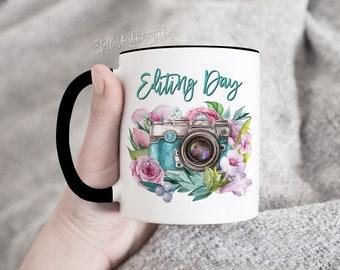 Editing Day Mug, Oh Snap Mug, Photographer Mug, Photographer Gift, Coffee Mug, Camera Mug, Wedding Photograher, Photography Gift, Oh shoot