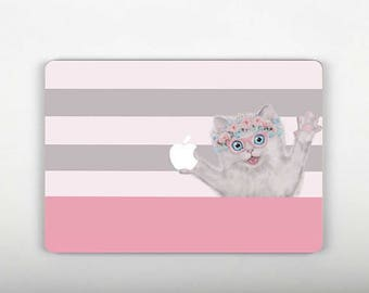 Cat Decal Macbook Keyboard Stickers Retina 13 Skin MacBook Air 13 Decal MacBook 2016 Skin Macbook 12 Sticker Pro 15 Skin Air 11 Sticer RS135