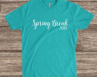 Spring Break 2018 Tahiti Blue Unisex T-shirt - Spring Break Shirts - Spring Break Vacation T-shirt