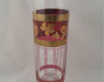 Mid-Century Cera Martini Pitcher - Mad Men - Cranberry Gold Grape Cluster