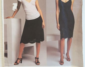 Vogue American Designer sewing pattern 2741 - DKNY - Misses' petite dress, top and skirt size 8-12