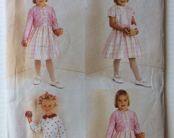 Vogue sewing pattern 7000 - Girls' jacket and dress, party dress size 6-7-8