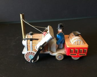 Vintage toy, Tin Toy, Barrel Car, Push Toy - 1970