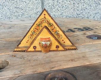 Vintage Wooden Holder, Vintage Napkin Holder, Vintage Holder, Vintage Kitchen, Letter Holder, Wooden Letter Holder