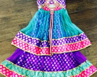 Kid's Girls Lehenga Choli/ Girls Chaniya Choli/ Girls Indian Wear/Girls Ethnic Indian Wear/ Girls 2 in 1 Indian wear