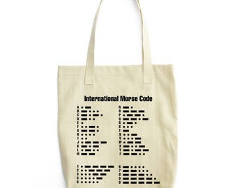 The Morse Code serious art tote bag