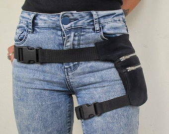 Black Jeans leg Bag