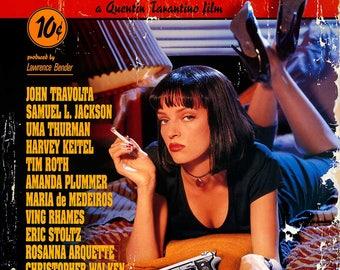 Pulp Fiction Cult Film Movie Poster Print Quentin Tarantino Retro Vintage A1 A2 A3 A4