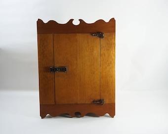 Wooden Corner Cabinet, Vintage Antique Cubbard, Corner Wood Wall Storage Closet, Hand Made Wooden Cabinet, Pine Storage Wall Cabinet