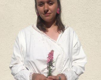 Antique White Cotton Dress