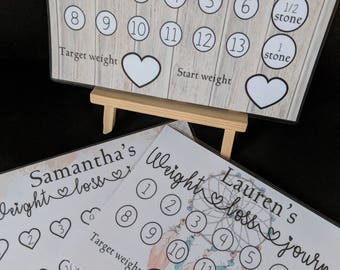 Personalised weight loss plaque, slimming world, motivation, weight watchers, vintage, weight loss journey