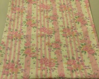 Pink Flowered Tote Bag