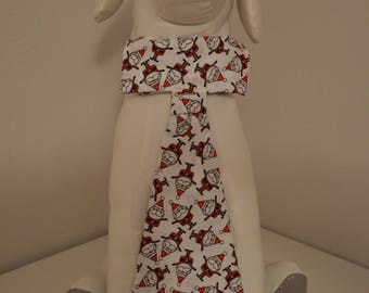 Dog Collar Neck Tie - Large - Santa