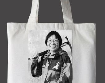 """Junko Tabei """"Nevertheless, She Persisted"""" Tote Bag"""