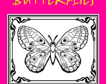 Coloring Book; Butterflies