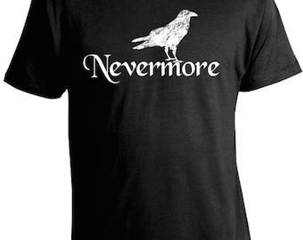 Nevermore Edgar Allan Poe T-Shirt with Raven