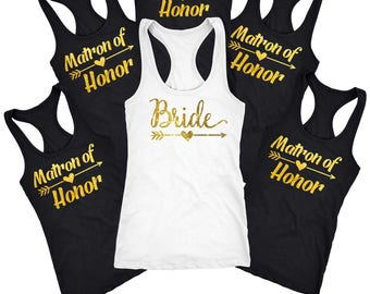 Matron of Honor tank top and shirt, bridal party gifts , Bridesmaid gift, custom bachelorette tanks top  D118