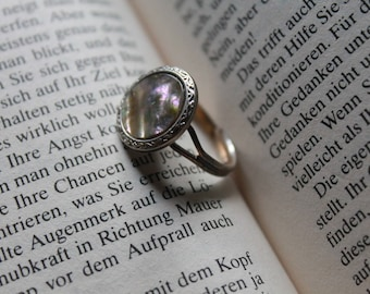 Steampunk ring mother-of-Pearl