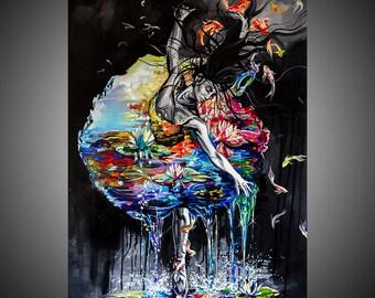 Voice of silence oil painting, Ballerina painting, Ballet painting, Ballerina art, Ballet art, Fine art painting, Woman art, Woman painting