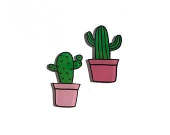 Cactus pin set