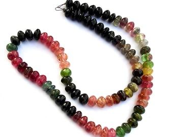 Tourmaline Smooth rondelle shape beads. excellent quality, 6 mm  to 6 mm ,  14 inch strand approx,