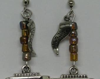 Erie Canal Boat Earrings E242