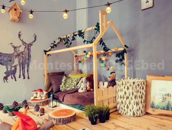 Toddler bed children bed house bed kids teepee wood house