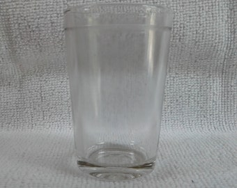 Capstan Glass Company cheese jar. Clear. Embossed on the bottom with the Capstan logo. c1934-1937  Vintage