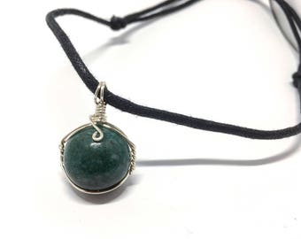 Bloodstone - Marble Collection - Wire Wrapped w/ 20ga Silver Wire