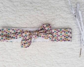 Headband tie size 6 3/12 months