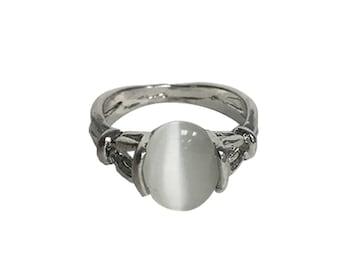 Twilight Moonstone Ring Bella Swan New Moon Movie Costume Cosplay Gift Jewelry Silver Rainbow June Birthstone Birth Stone Oval High Quality