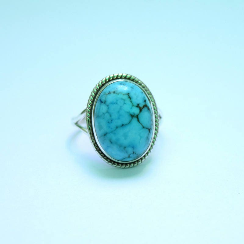 TURQUOISE Ring, Silver Ring, Turquoise Stone Ring, 92.5 sterling ...