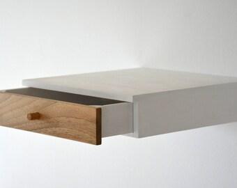 table de chevet murale avec tiroir dans antique en bois bois. Black Bedroom Furniture Sets. Home Design Ideas
