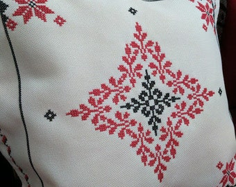 Decorative pillow case (cross stitch) - Taie d'oreiller décoratif (pointe de croix)